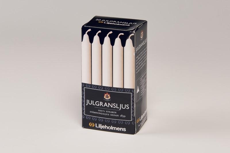 "Liljeholmens White 4"" Mini Candles 20pk"
