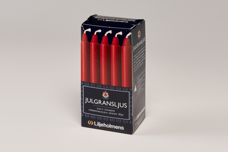 "Liljeholmens Red 4"" Mini Candle 20pk"