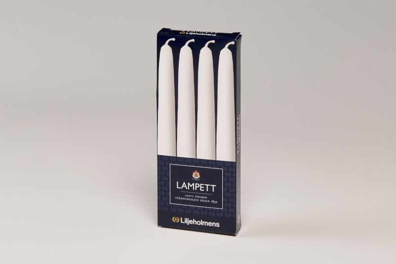 Liljeholmens White Lampett 4pk, Tapered with Tapered base