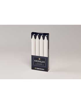 Liljeholmens White kron 4pk, straight, Multi-fit base