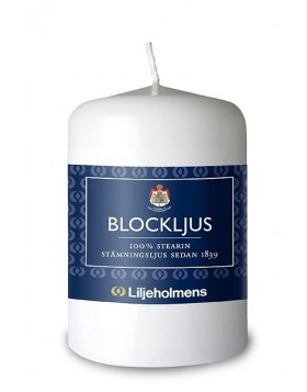 Liljeholmens White Small Blockljus Pillar