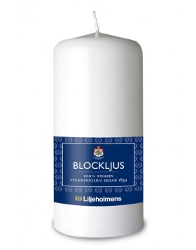 Liljeholmens White Large Blockljus Pillar